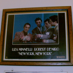 Robert DeNiro New York New York Framed movie lobby poster